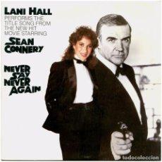 Discos de vinilo: LANI HALL / MICHEL LEGRAND – NEVER SAY NEVER AGAIN - SG SPAIN 1983 - A&M RECORDS AMS9734. Lote 278970278