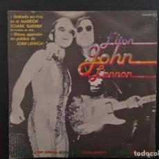 Discos de vinilo: ELTON JOHN LENNON I SAW HER STANDING THERE BEATLES SINGLE ESPAÑOL. Lote 278971008