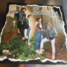 Discos de vinilo: SALVAJES, LP, NACIDO PARA SER SALVAJE + 9, AÑO 1981. Lote 278971243