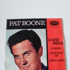 Discos de vinilo: PAT BOONE EL RAPIDO GONZALEZ SPEEDY GONZALES + 3 ( 1962 LONDON ESPAÑA ). Lote 278973113