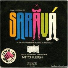 Discos de vinilo: SARAVÁ - TEMA PRINCIPAL DE SARAVÁ - SG SPAIN 1979 - RCA VICTOR PB-1454. Lote 278973223