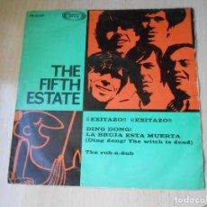 Discos de vinilo: FIFTH ESTATE, THE, SG, DING DONG LA BRUJA ESTA MUERTA + 1, AÑO 1967. Lote 278975843