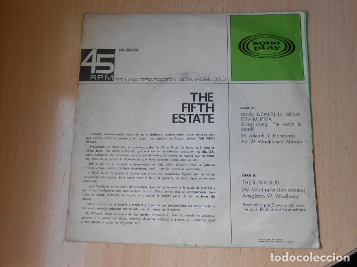 Discos de vinilo: FIFTH ESTATE, THE, SG, DING DONG LA BRUJA ESTA MUERTA + 1, AÑO 1967 - Foto 2 - 278975843