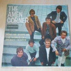 Discos de vinilo: AMEN CORNER, THE, SG, BEND ME SHAPE ME + 1, AÑO 1967. Lote 278977823
