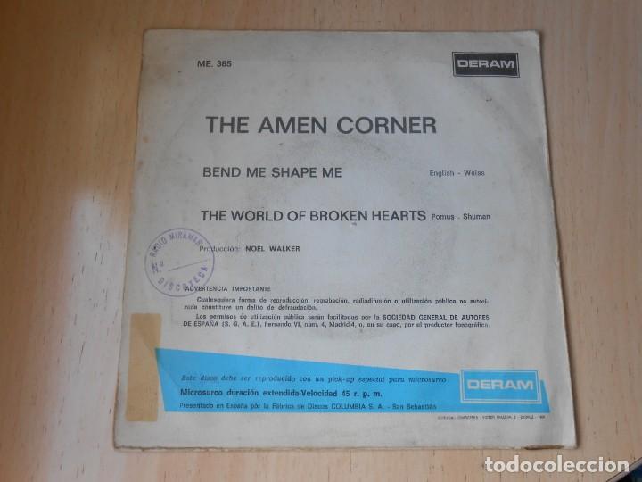 Discos de vinilo: AMEN CORNER, THE, SG, BEND ME SHAPE ME + 1, AÑO 1967 - Foto 2 - 278977823