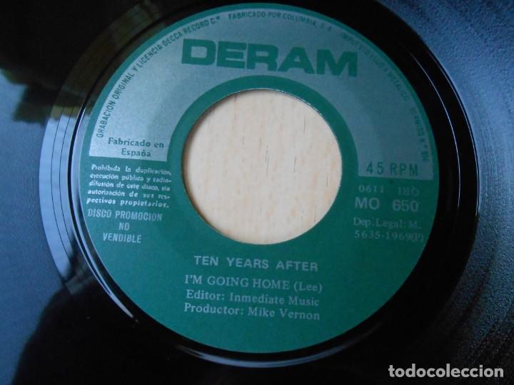 Discos de vinilo: TEN YEARS AFTER, SG, I´M GOING HOME + 1, AÑO 1969 - Foto 3 - 278979038
