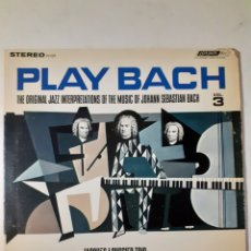 Discos de vinilo: JACQUES LOUSSIER TRIO. PLAY BACH. 1963 ENGLAND. PS 289. DISCO VG+. CARÁTULA VG+.. Lote 278981373