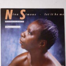 Discos de vinilo: NINA SIMONE. LET IT BE ME. 1988 ESPAÑA. DISCO VG+. CARÁTULA VG+.. Lote 278982138