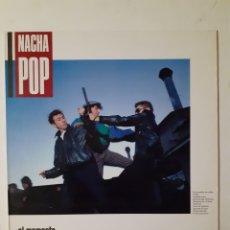 Discos de vinilo: NACHA POP. EL MOMENTO. 1987. 831 758-1. DISCO VG++. CARÁTULA VG++.. Lote 279322203