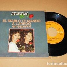 Discos de vinilo: BACCARA - EL DIABLO TE MANDO A LAREDO (EN ESPAÑOL) - SINGLE - 1979. Lote 228962310