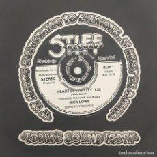 Discos de vinilo: NICK LOWE – SO IT GOES, UK 1976 STIFF RECORDS. Lote 279336248