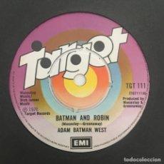 Discos de vinilo: ADAM BATMAN WEST* – BATMAN AND ROBIN, UK 1976 TARGET. Lote 279336973