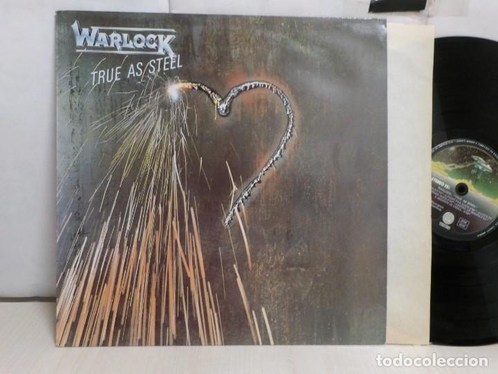 Discos de vinilo: WARLOCK --TRUE AS STEEL--POLYGRAM--1987--MADRID --VERTIGO- - Foto 2 - 279346053