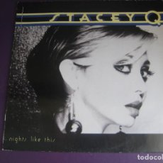 Discos de vinilo: STACEY Q – NIGHTS LIKE THIS - LP ATLANTIC 1989 - GARAGE HOUSE ELECTRONICA - VINILO SIN USO. Lote 279362543
