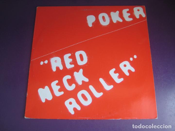POKER - RED NECK ROLLER - LP PDI 1983 - HARD ROCK 80'S METAL - VINILO SIN USO , PORTADA ROZADA (Música - Discos - LP Vinilo - Heavy - Metal)