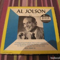 Discos de vinilo: SINGLE BOX X 4 AL JOLSON SOUVENIR ALBUM DECCA 9B USA 1950 JAZZ CAJA CON 4 SINGLES. Lote 279363163