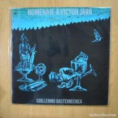Discos de vinilo: GUILLERMO BASTERRECHEA - HOMENAJE A VICTOR JARA - GATEFOLD LP. Lote 279363293