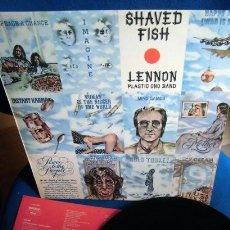 Discos de vinilo: BEATLES JOHN LENNON LP EDICION DISCOLIBRO EMI ODEON ESPAÑA GRANDES EXITOS SHAVED FISH EXCELENTE. Lote 279364278
