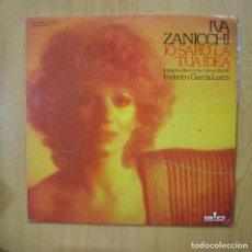 Discos de vinilo: IVA ZANICCHI - IO SARO LA TUA IDEA - PROMO LP. Lote 279364818