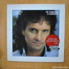 Discos de vinilo: ROBERTO CARLOS - DE CORAZON A CORAZON - LP. Lote 279365038