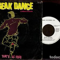 Discos de vinilo: BREAK DANCERS – THAT'S ALL FOLKS. Lote 279372153