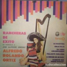 Discos de vinilo: ALFREDO ROLANDO ORTIZ – RANCHEROS DE EXITO, VINILO, LP.. Lote 279384753