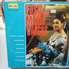 Discos de vinilo: FIESTA CON MARÍA VARGAS - LP. SELLO MARFER. Lote 279404933