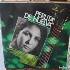 Discos de vinilo: PERLITA DE HUELVA - TRADICIÓN DE HUELVA, FANDANGOS DE SELECCIÓN, ... - LP. SELLO COLUMBIA 1970. Lote 279405473