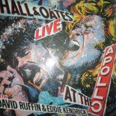 Discos de vinilo: HALL & OATES - LIVE LP WITH DAVID RUFFIN & EDDIE KENDRICK - ORIGINAL ESPAÑOL RCA 1985 CON ENCARTE. Lote 279406178