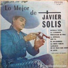 Discos de vinilo: JAVIER SOLÍS, NACHO SANCHEZ Y SUS MARIACHIS – LO MEJOR DE JAVIER SOLIS, VINILO, LP.. Lote 279406608