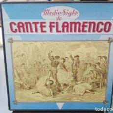 Discos de vinilo: MEDIO SIGLO DE FLAMENCO - CAJA, CONTIENE 10 LPS. + LIBRETO - LPS. SELLO ARIOLA 1987. Lote 279407333