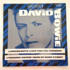 Discos de vinilo: DAVID BOWIE – ARCHIVE4 LIMITED EDITION UK,1986 CASTLE COMMUNICATIONS. Lote 279407338