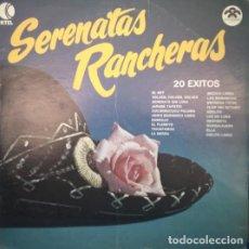 Discos de vinilo: SERENATAS RANCHERAS 20 EXITOS, VINILO, LP.. Lote 279413378