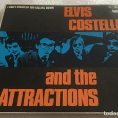 Discos de vinilo: SINGLE ELVIS COSTELLO AND THE ATTRACTIONS - I CAN'T STAND UP FOR FALLING DOWN -PEDIDO MINIMO 7€. Lote 279413768