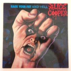 Discos de vinilo: ALICE COOPER – RAISE YOUR FIST AND YELL GERMANY,1987 MCA RECORDS. Lote 279413833