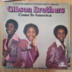Discos de vinilo: GIBSON BROTHERS - COME TO AMERICA (POLYDOR, UK, 1977). Lote 279417223
