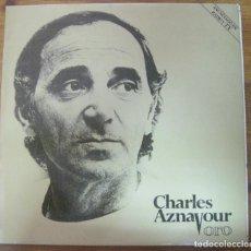 Discos de vinilo: CHARLES AZNAVOUR , ORO. Lote 279430098