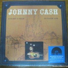 Discos de vinilo: JOHNNY CASH KONCERT V PRAZE (IN PRAGUE LIVE). NUEVO. Lote 279433603