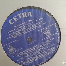 """Discos de vinilo: *RECORDANDO A ITALIA """"VERSIONES ORIGINALES"""" LP AÑO 1961 """"SOLO DISCO"""" VER FOTOS - LEER DESCRIPCIÓN. Lote 279436598"""