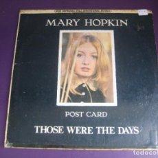 Discos de vinilo: MARY HOPKIN - POST CARD - THOSE WERE THE DAYS - LP APPLE EDICION MEXICO - GEORGE HARRISON BEATLES. Lote 279439268