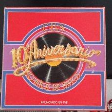 Discos de vinilo: *CBS - 10º ANIVERSARIO - 10 AÑOS DE ÉXITOS - TRIPLE LP EN CAJA AÑO 1979 - LEER DESCRIPCIÓN. Lote 279442443