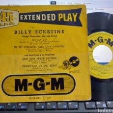 Discos de vinilo: BILLY EKSTINE EP SOLO TÚ + 3 ESPAÑA. Lote 279446573