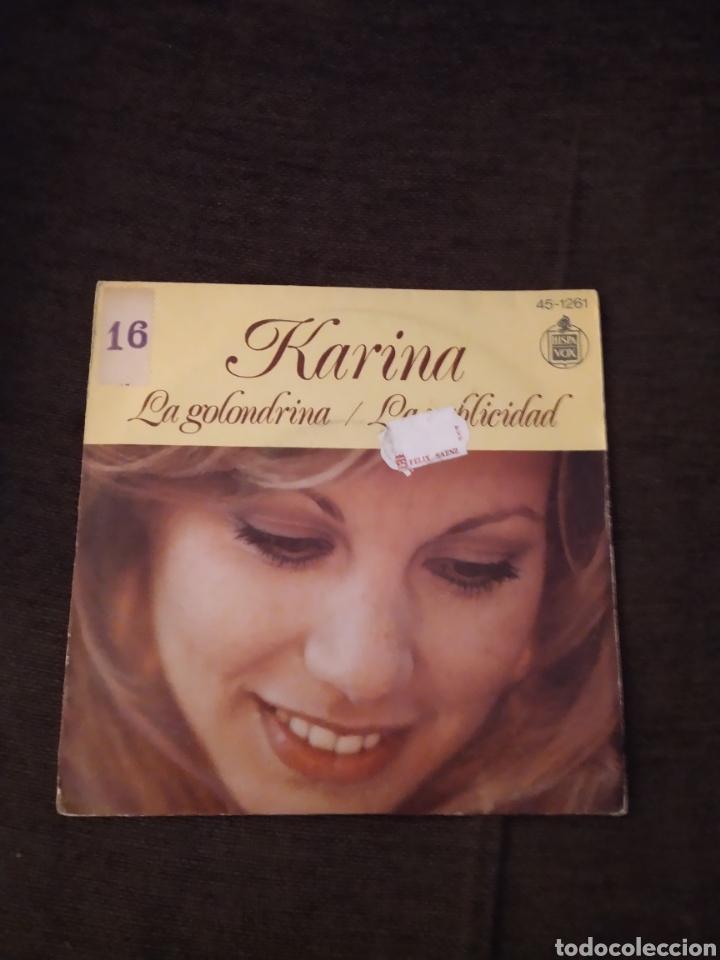SINGLE DE KARINA. LA GOLONDRINA / LA PUBLICIDAD. EDICIÓN HISPAVOX DE 1975 (Música - Discos - Singles Vinilo - Solistas Españoles de los 70 a la actualidad)