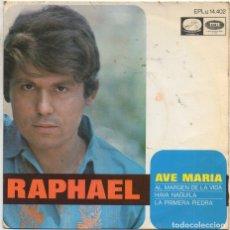 Discos de vinilo: RAPHAEL - AVE MARIA, HAVA NAGUILA, LA PRIMERA PIEDRA.../ EP EMI DE 1968 RF-4972. Lote 279456868