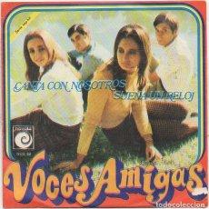 Discos de vinilo: VOCES AMIGAS - CANTA CON NOSOTROS, SUENA UN RELOJ / SINGLE NOVOLA 1968 RF-4979. Lote 279457558