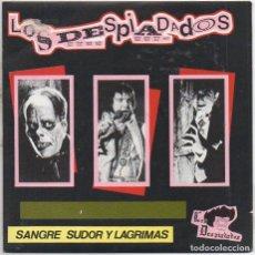 Discos de vinilo: LOS DESPIADADOS - SANGRE, SUDOR Y LAGRIMAS / SINGLE LA ROSA 1990 / BUEN ESTADO RF-4982. Lote 279457903