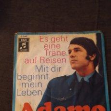 Discos de vinilo: SINGLE DE ADAMO. EDICIÓN Y CANCIONES EN ALEMÁN. RARO. Lote 279459058