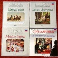 Discos de vinilo: LOTE 4 LPS CLÁSICA COLECCIÓN MUSICALIA 1986. Lote 279460688