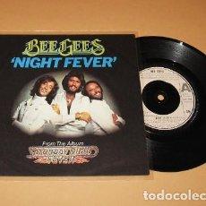 Discos de vinilo: BEE GEES - NIGHT FEVER - SINGLE - 1977 - IMPORT. Lote 279465713