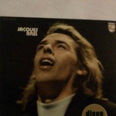 Discos de vinilo: JACQUES BREL DISCO DE ORO PHILIPS MADRID 1973. Lote 279342628